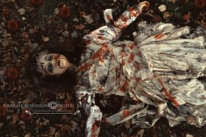 On Her Bed Of Dead Leaves by KarahRobinson-Art