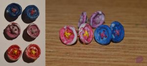 Button earrings by trollwaffle
