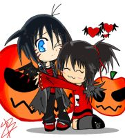 hallowwweeeen pucca and garu by zafireblue