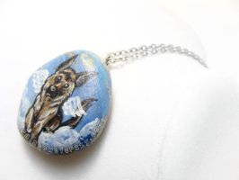 German Shepherd Pendant Necklace 3 by sobeyondthis