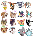 Lineless Headshot Tags by Colonels-Corner