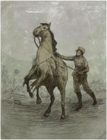 Man and Horse Ink by Maseiya