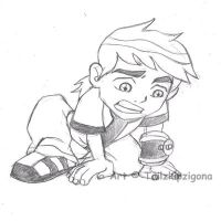 young Ben 10 sketch by Tailzkip
