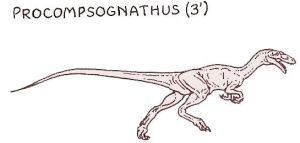 Procompsognathus by PonchoFirewalker01