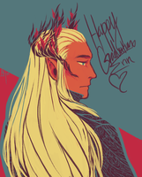 Gift:: Elven King by Akilees