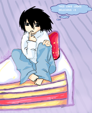 Saykii's Galerie 8D Chibi_Lawliet_and_his_cake_by_Saykii
