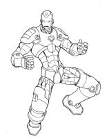 iron man lineart by annyd
