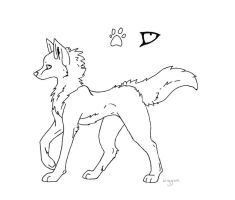 Free Canine Lineart by Wiggans-Adopts