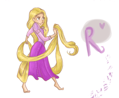 Rapunzel in action by vanipy05