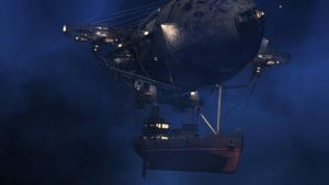 Steampunk Airship by 3djock