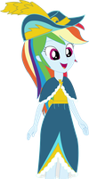 Equestria Girls Rainbow Dash (Coronation Dress) by JustinKWork