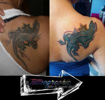 Correcting tattoo by Tattoographic