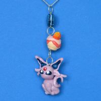 Espeon Necklace by Loreleiwave