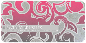 4 Swirly Brushes by ofthespectrum