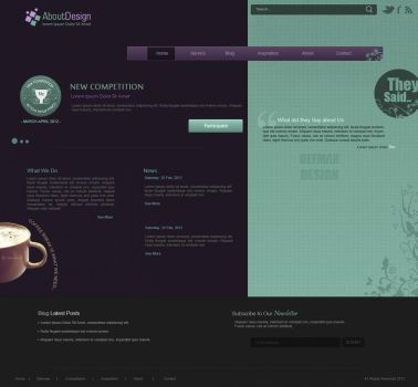 About Design - Web Layout by Bellie