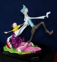 Rick and Morty Sculpture Detail II by Phoenix-Cry