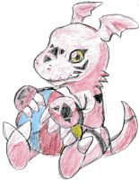digimon-chibi guilmon by mg9990