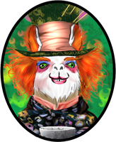 Mad Hatter Llama by TyrineCarver