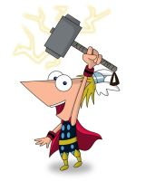 PnF - Phineas as Thor by JaviDLuffy