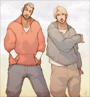Derrick and Grant by LMJWorks