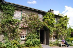 Beatrix Potter Cottage front, Hill Top, Cumbria by JoannaBromley