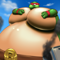 Gigantic Sumo Raphael by RickyDemont