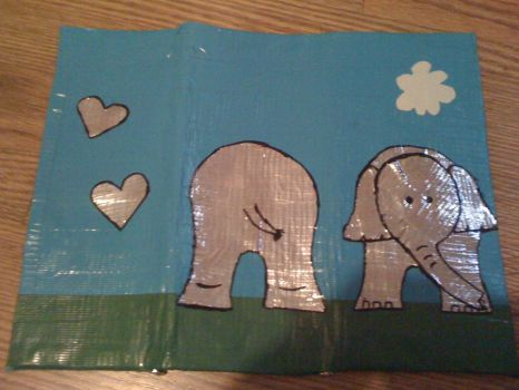 duct tape wallet elephant by kysaisred