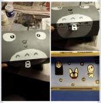 Made a Totoro box for my best friend by ExtremeCookieMonster