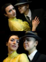 L.A. Noire Cosplay Phelps and Elsa by LadyofRohan87