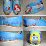 The Little Mermaid Custom Toms by Gaani-Hatchinto