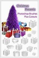 Christmas Presents Photoshop Brushes plus Cutouts by ibjennyjenny