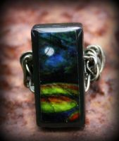 Night Sky Domino Ring by ReneeRutherford
