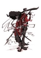 Afro samourai and justice by yoanndurand