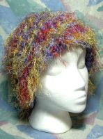 Purple Whispy Rainbow Hat by SmilingMoonCreations