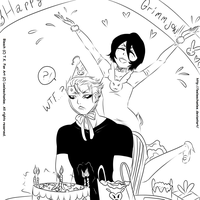 -Happy B-Day Grimmjow, Lines. by Leeleechanlee