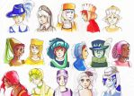 People with hats by Agnethamoon