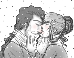 Your nose is cold.. by Mama-Moose