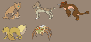 Ground Type Fakemon Adopts (open) by Badthingteddy