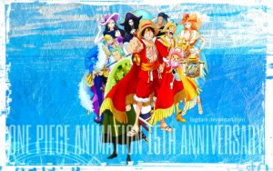 One Piece, 15th anniversary! by fogdark