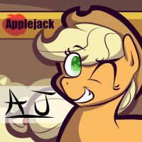 Applejack - Autograph Series by whatchyagonnado