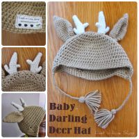 Baby Darling Deer Hat by the-carolyn-michelle