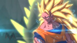 Ssj3 Goku by MERIMO by merimo-animation