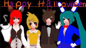 Happy holloween from five nights at meikos by Carolina2004
