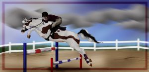 Tri - Next top Horse - Jumping by broomstick88