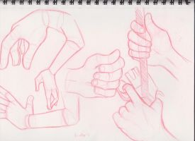 Hand Sketches by StarbuckViper