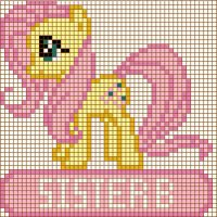 Fluttershy Cross Stitch Design by moonprincessluna