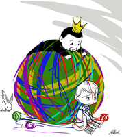 The Master is King of the Yarn by caycowa