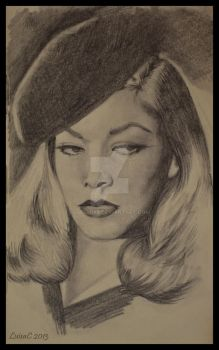 Lauren Bacall by LuisaC88