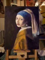 Girl With A Pearl Earring by foxkat