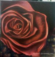 Oil Painting: Rose by nicegal1